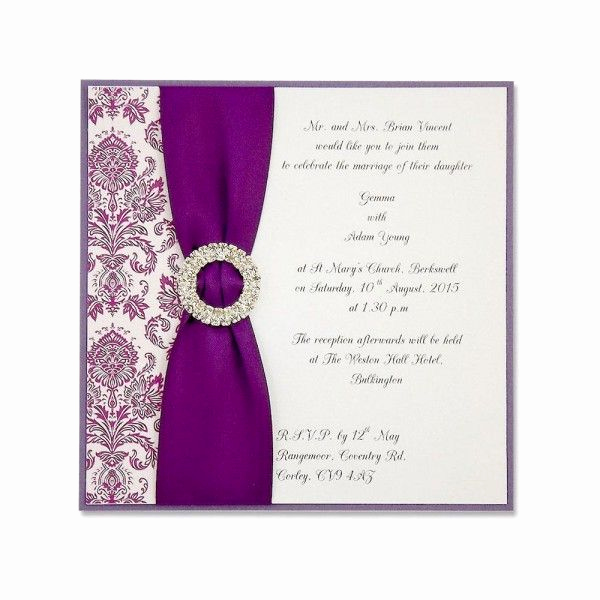 Purple Wedding Invitation Template Luxury How to Make Your Own Wedding Invitations In Easy Way but