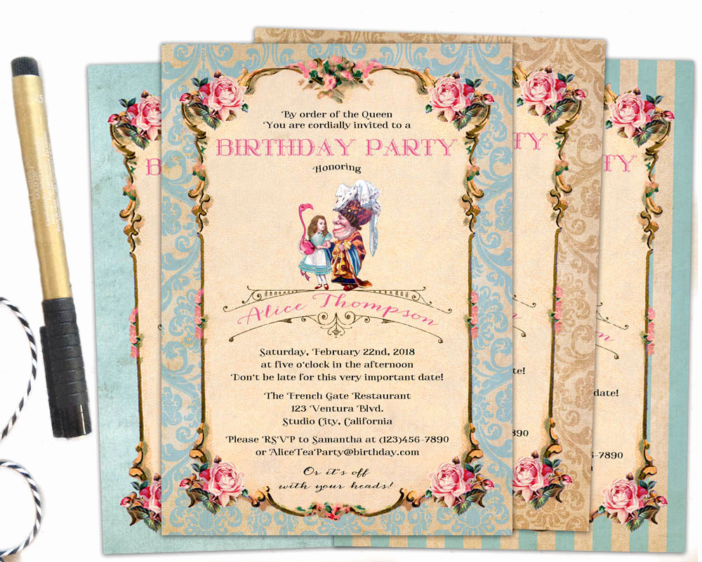 Queen Of Hearts Invitation Awesome Queen Of Hearts Invitation Queen Of Hearts Birthday