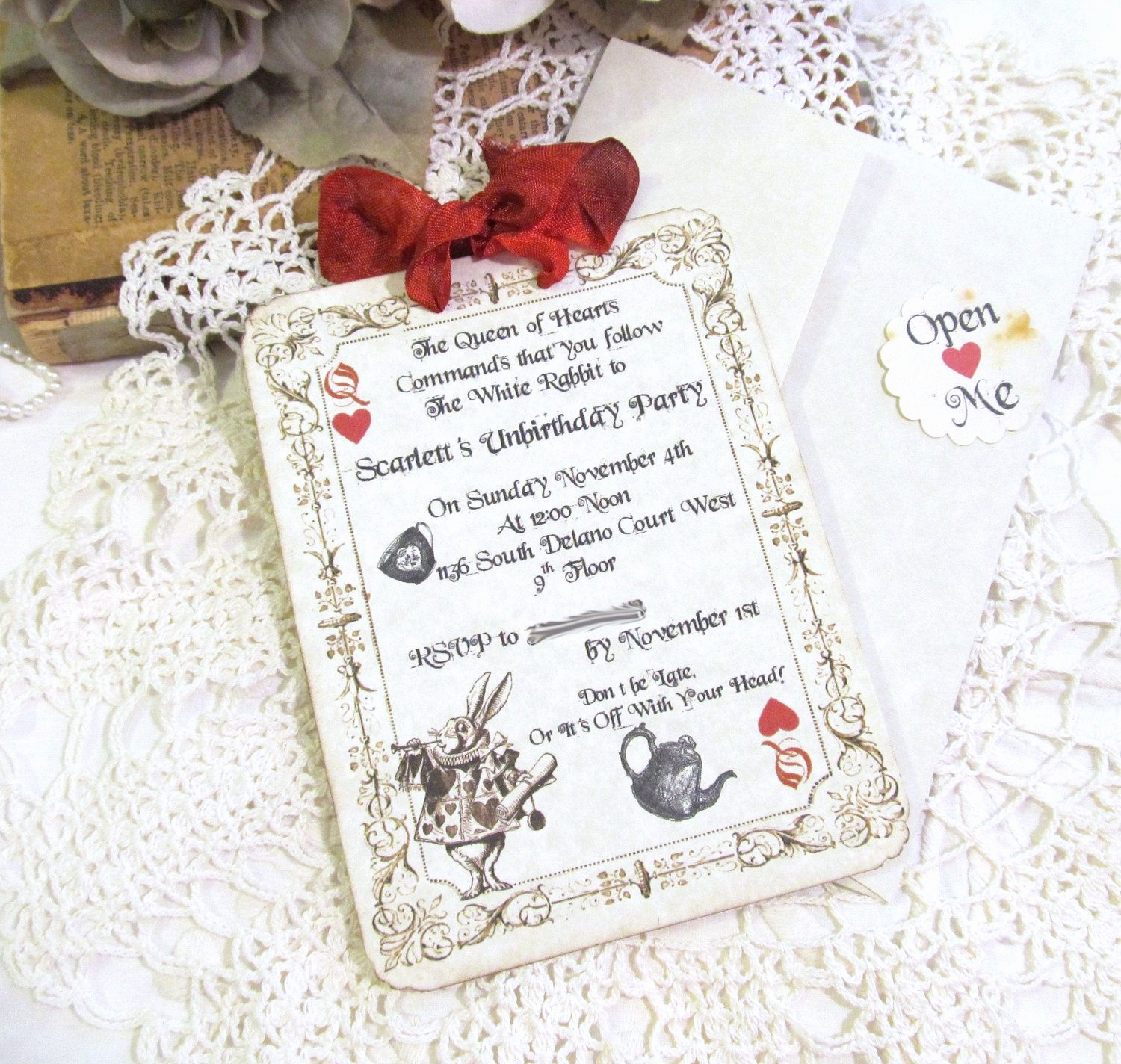 Queen Of Hearts Invitation Awesome Queen Of Hearts Invite Ideas