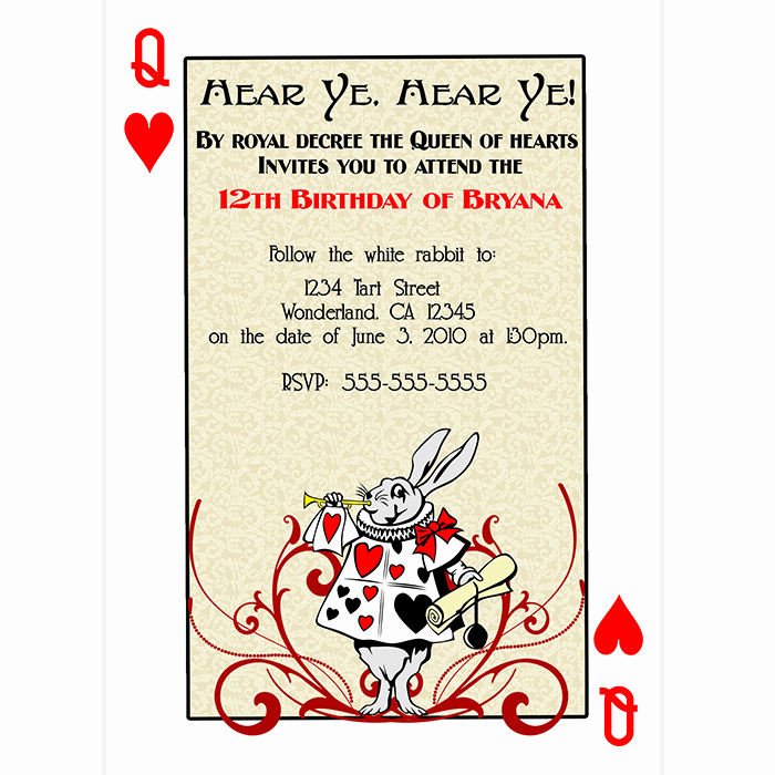 Queen Of Hearts Invitation Best Of 28 Of Queen Hearts Invitation Template