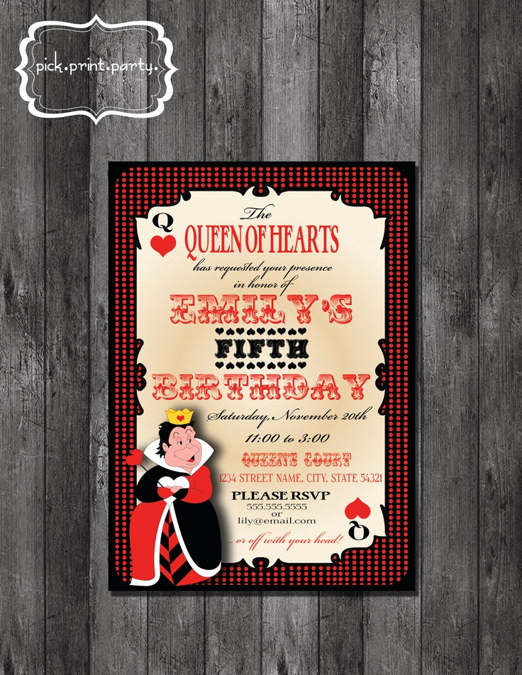 Queen Of Hearts Invitation Best Of 82 Best Queen Of Hearts Images On Pinterest