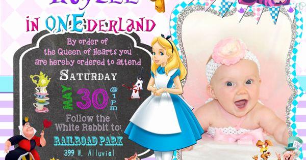 Queen Of Hearts Invitation Elegant Alice In Ederland Wonderland Birthday Party Invitation