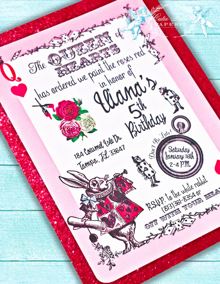 Queen Of Hearts Invitation Luxury Queen Of Hearts Party Invitations Printable Custom