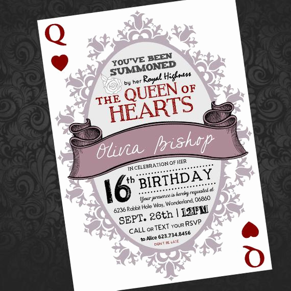 Queen Of Hearts Invitation New Alice In Wonderland Queen Of Hearts by Alexheartscoffee On