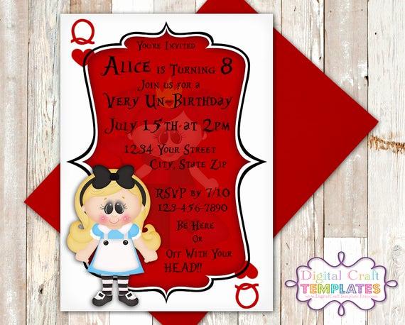 Queen Of Hearts Invitation Unique Personalized Printable Invitations Queen Of Hearts