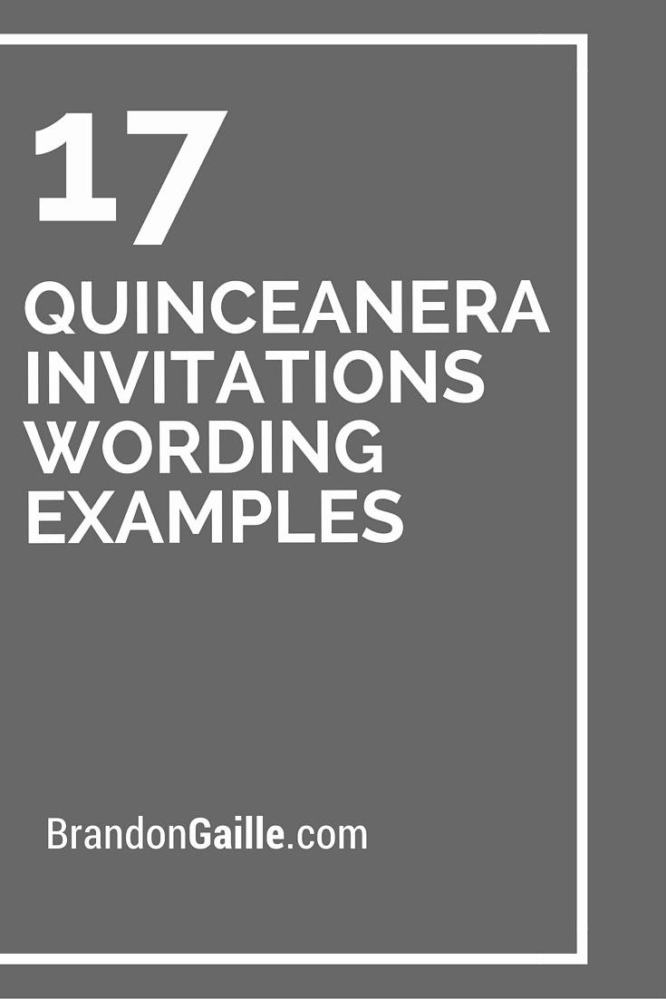 Quince Invitation Wording In English Unique 17 Quinceanera Invitations Wording Examples