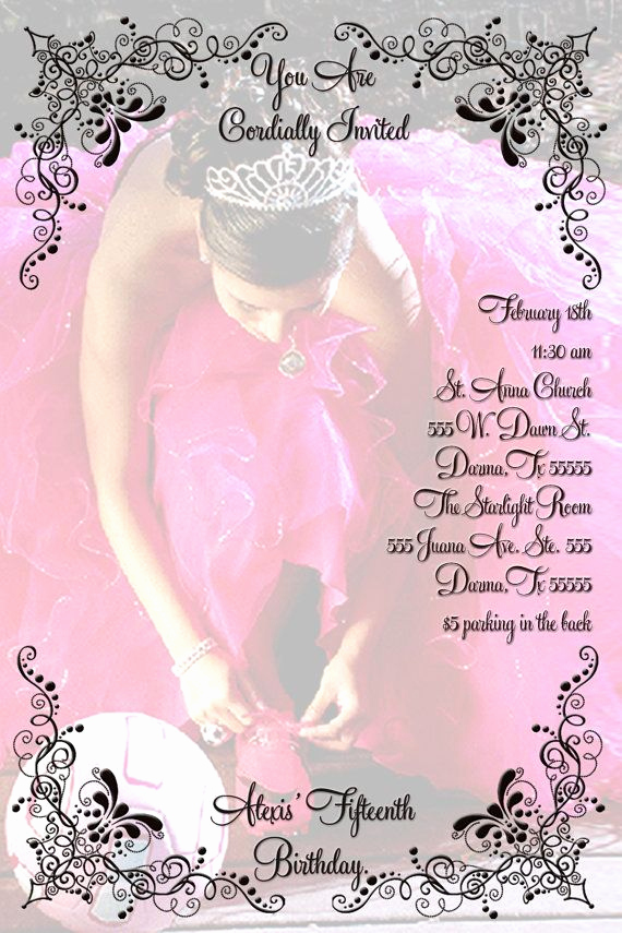 Quinceanera Invitation Ideas Pinterest Beautiful Quincenera Invitation Personalized with Your by