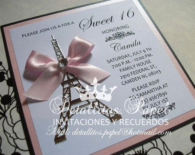 Quinceanera Invitation Ideas Pinterest Luxury Best 25 Paris Invitations Ideas On Pinterest
