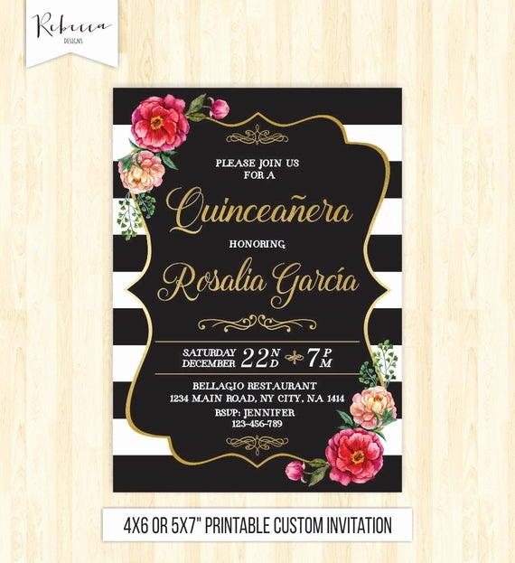 Quinceanera Invitation Templates In Spanish Best Of Quinceanera Invitation 15th Birthday Party Invite Mis