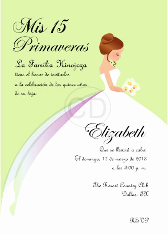 Quinceanera Invitation Templates In Spanish Inspirational Diy Princess Sweet 16 Quinceanera Invitation by Cecydesigns