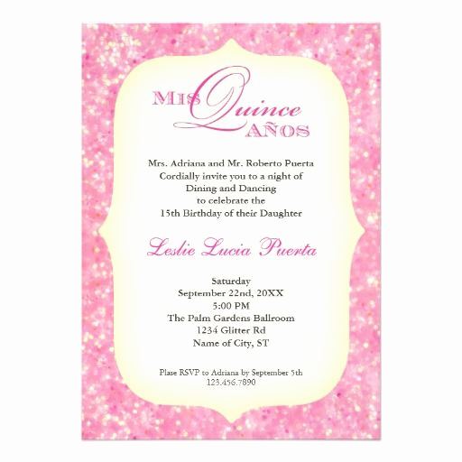 Quinceanera Invitation Templates In Spanish Inspirational Quinceanera Invitation Wording Spanish Invitation