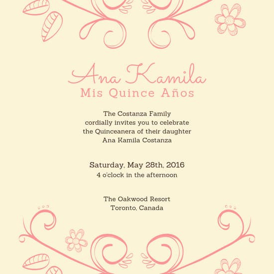 Quinceanera Invitation Templates In Spanish Lovely Customize 34 Quinceanera Invitation Templates Online Canva