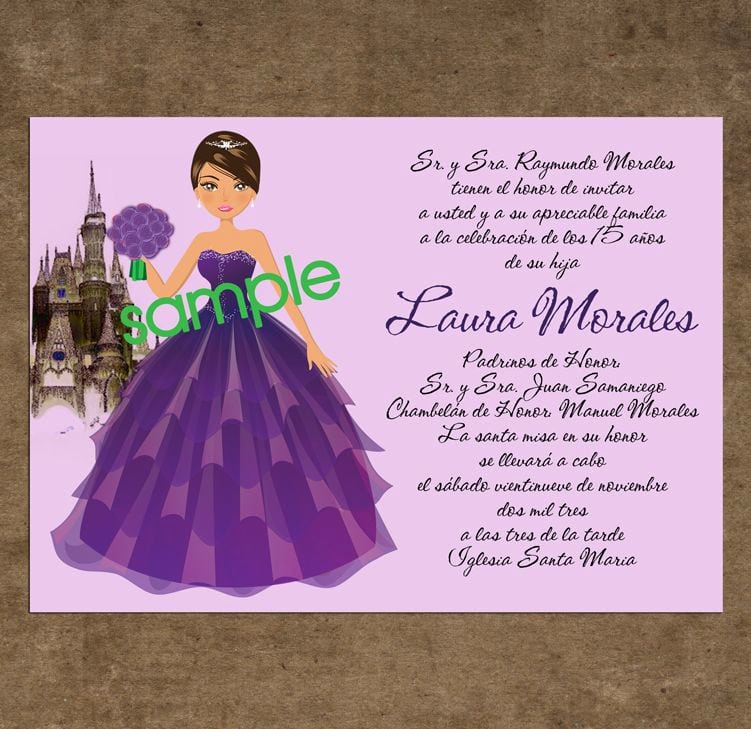 Quinceanera Invitation Wording In English Awesome Examples Invitation for Quinceaneras