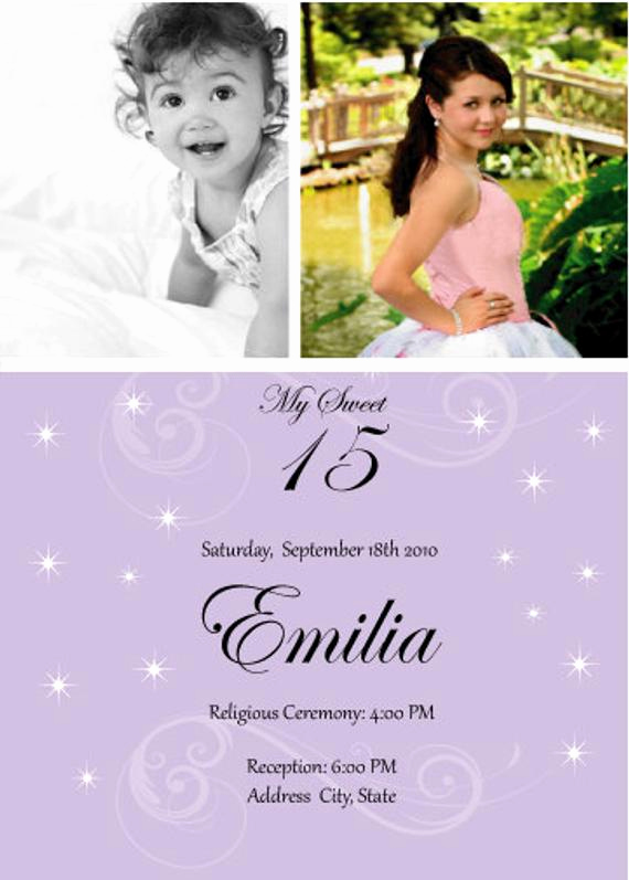 Quinceanera Invitation Wording In English Inspirational Quinceanera 2 S Invitation with Stars English or