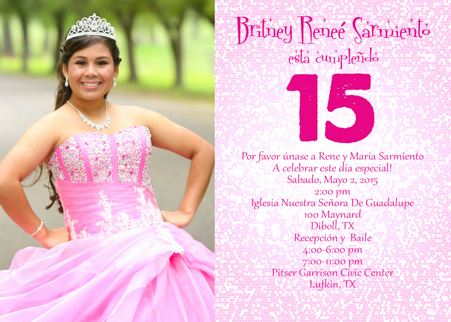 Quinceanera Invitation Wording In Spanish Elegant Spanish Quinceanera Invitation