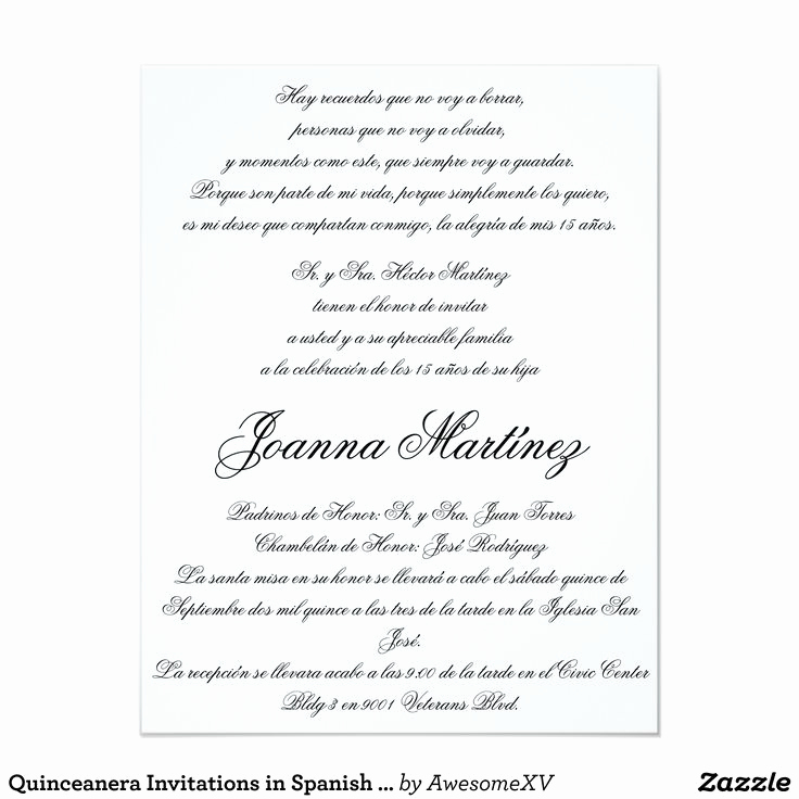 Quinceanera Invitation Wording In Spanish Fresh 18 Best Quinceanera Ideas Images On Pinterest