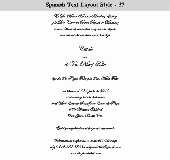 Quinceanera Invitation Wording In Spanish Fresh Spanish Wedding Invitation Wording Samples Cobypic