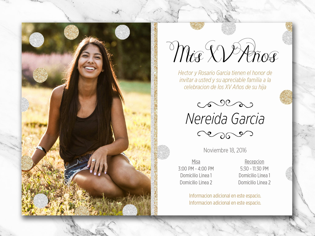Quinceanera Invitation Wording In Spanish Inspirational Printable Quinceañera Invitation English or Spanish