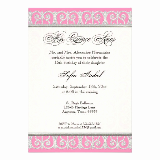 Quinceanera Invitation Wording In Spanish Unique Mis Quince Invitations