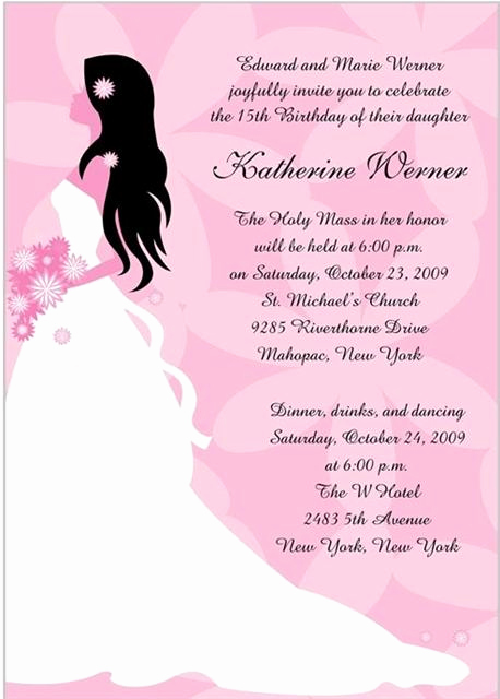 Quinceanera Invitation Wording Samples Best Of Quinceanos Invitations Wording Samples In Spanish