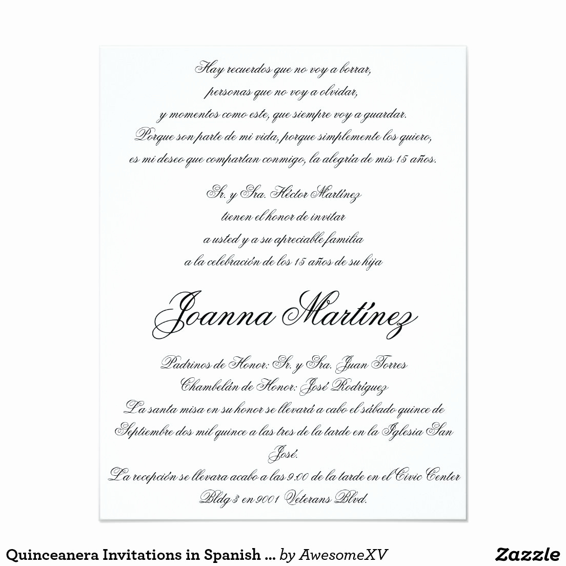 Quinceanera Invitation Wording Samples Fresh Quinceanera Invitations In Spanish 4 25 X 5 5