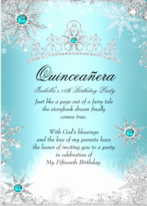 Quinceanera Invitation Wording Samples Inspirational 28 Quinceanera Invitations Templates Psd Vector Eps