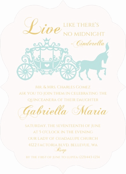 Quinceanera Invitation Wording Samples Inspirational Royal Ball Quinceanera Invitation