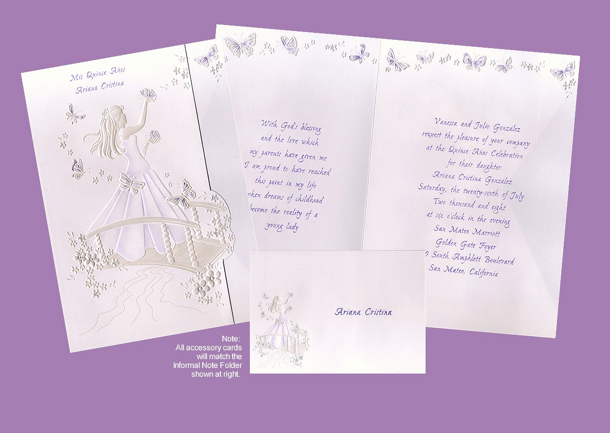 Quinceanera Invitation Wording Samples Lovely Purple Invitations Purple Announcements Invites