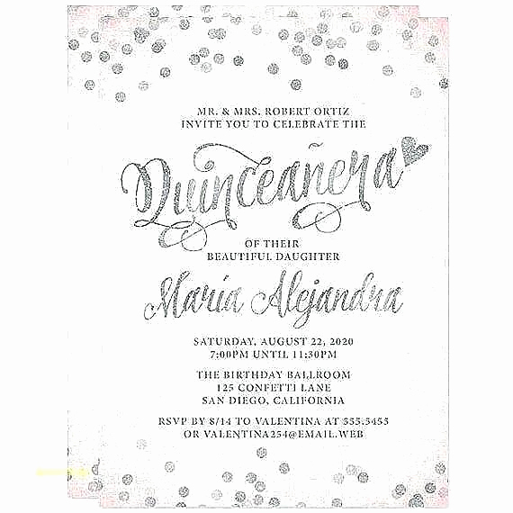 Quinceanera Invitation Wording Samples Luxury Quinceanera Invitation Wording