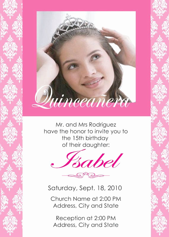 Quinceanera Invitation Wording Spanish Awesome 66 Best Images About 15 Anera Ideas On Pinterest