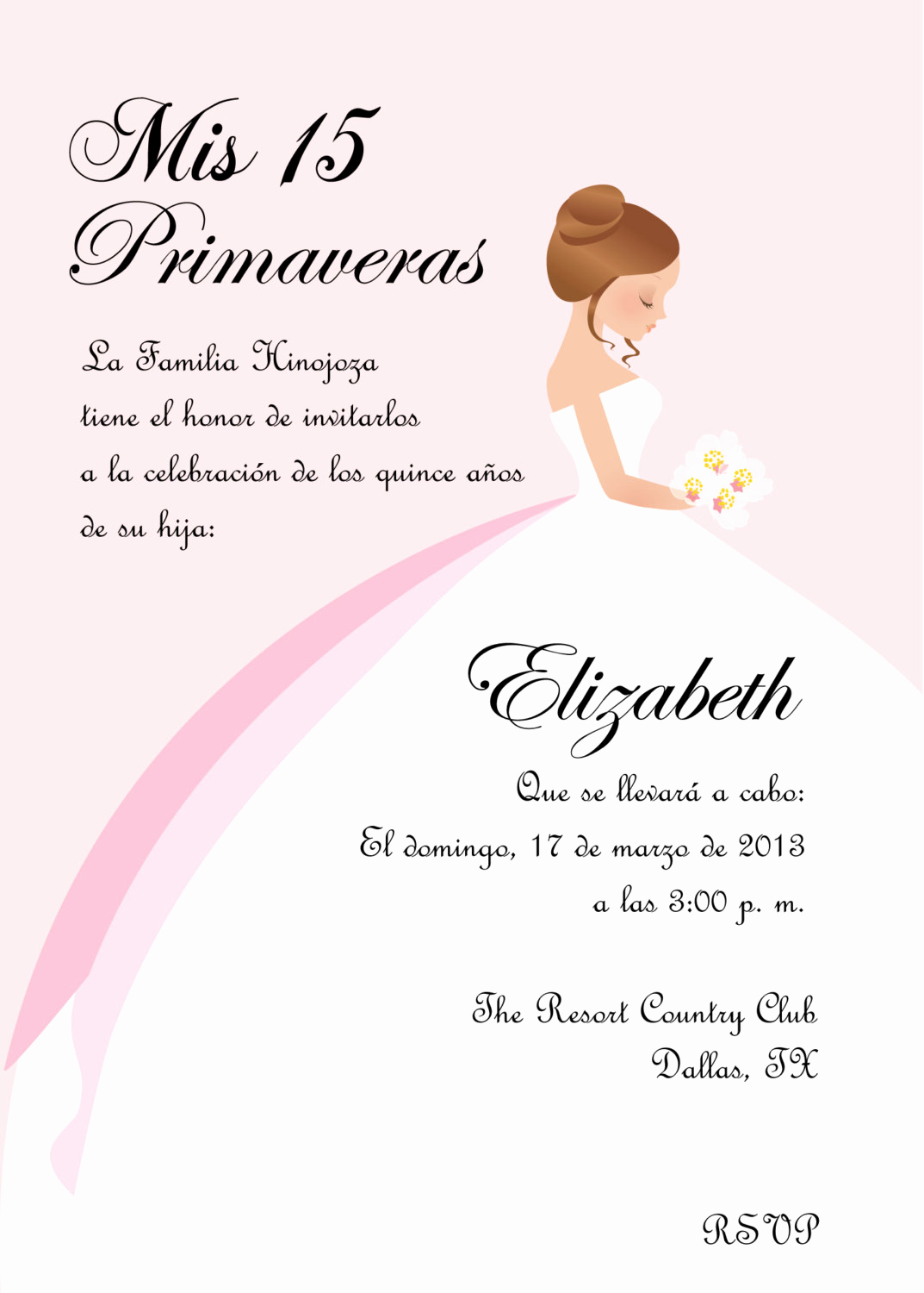 Quinceanera Invitation Wording Spanish Lovely Diy Princess Sweet 16 Quinceanera Invitation English Spanish