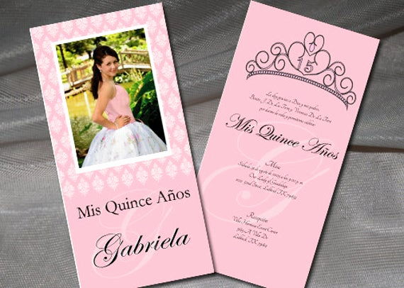 Quinceanera Invitation Wording Spanish Luxury Quinceanera Invitation Double Sided Spanish by