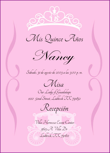 Quinceanera Invitation Wording Spanish New Princess Quinceanera Invitation by Cecydesigns On Etsy