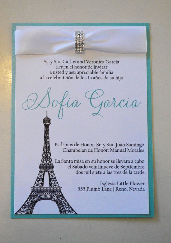 Quinceanera Invitation Wording Spanish Unique Quinceanera Invitations Paris Invitation Spanish
