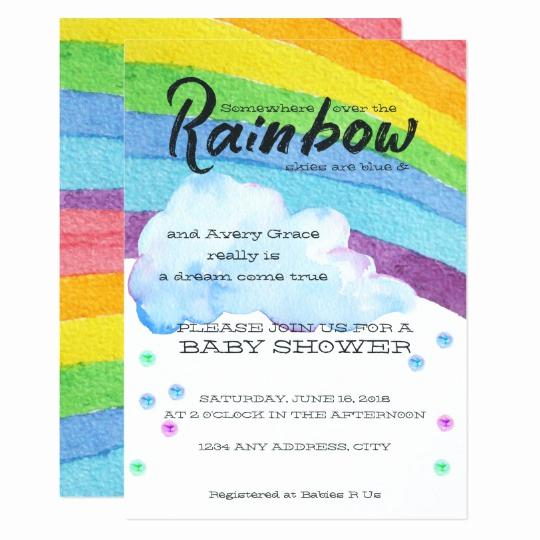 Rainbow Baby Shower Invitation Awesome Rainbow Baby Shower Invitation
