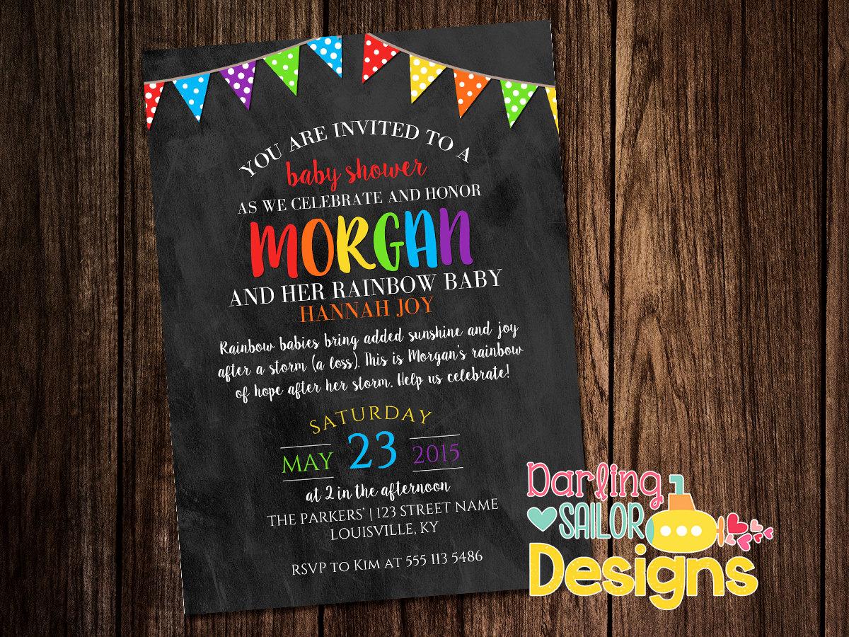Rainbow Baby Shower Invitation Fresh Rainbow Baby Shower Invitation Print and Digital Option