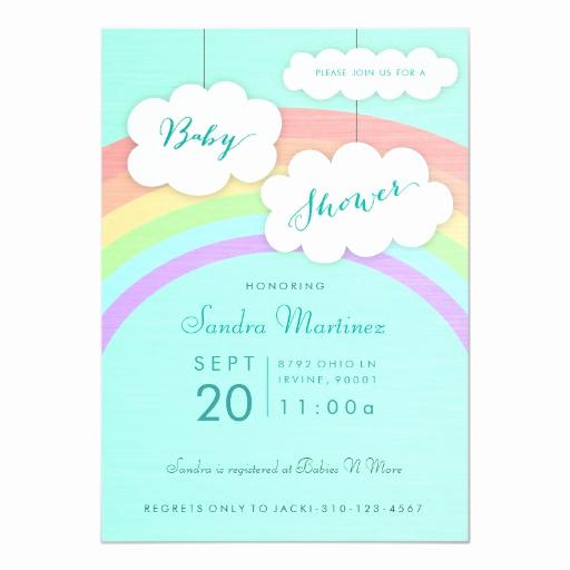 Rainbow Baby Shower Invitation Lovely Gender Neutral Rainbow Baby Shower Invitation