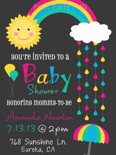 Rainbow Baby Shower Invitation New Rainbow Baby Baby Shower Invitations and Shower