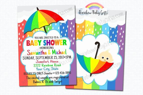 Rainbow Baby Shower Invitation New Rainbow Baby Shower Invitations Printable Baby Shower