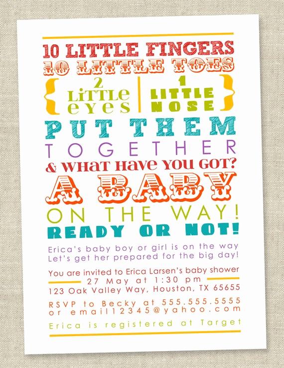 Rainbow Baby Shower Invitation Unique Rainbow Baby Shower Invitation Colorful Words by Miragreetings