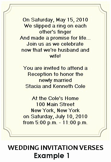 Reception Invitation Wording Already Married Awesome Wedding Party Invitations after Marriage