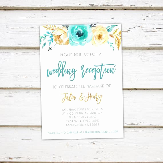 Reception Invitation Wording Already Married Elegant Printable Elopement Reception Invitation Post Wedding