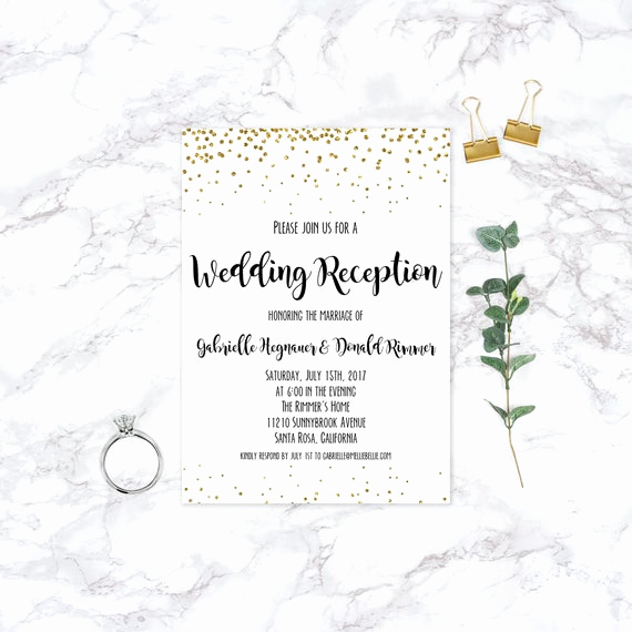 Reception Invitation Wording Already Married Fresh Printable Elopement Reception Invitation Wedding