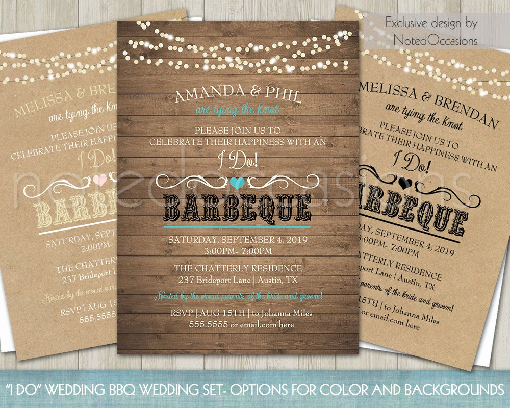 Reception Invitation Wording Already Married New Printable I Do Bbq Wedding Reception Invitation Wedding
