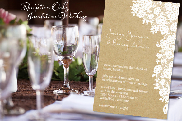 Reception Only Invitation Wording Awesome Reception Ly Invitation Wordingreception Ly Invitation