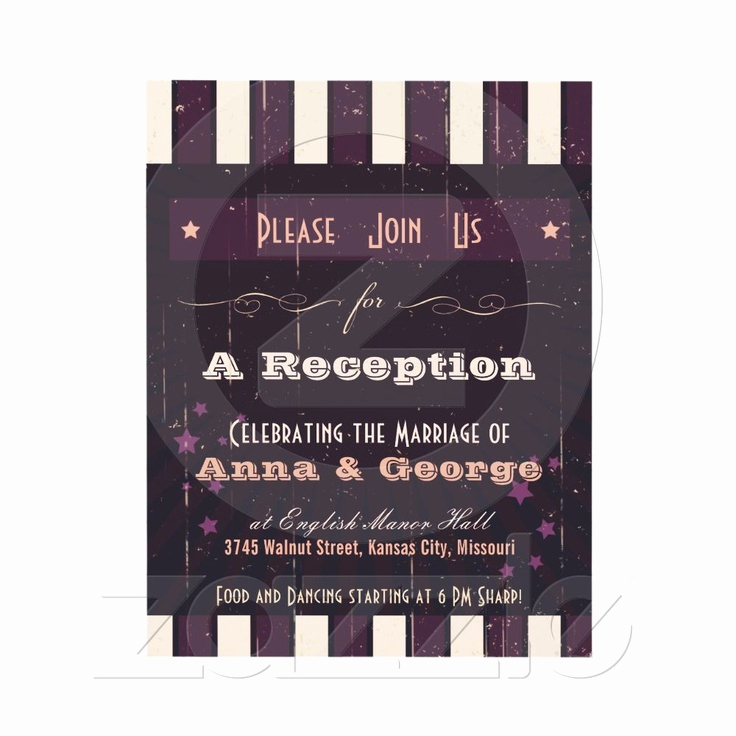 Reception Only Invitation Wording Beautiful Rustic Poster Aubergine Dream Reception Ly Card