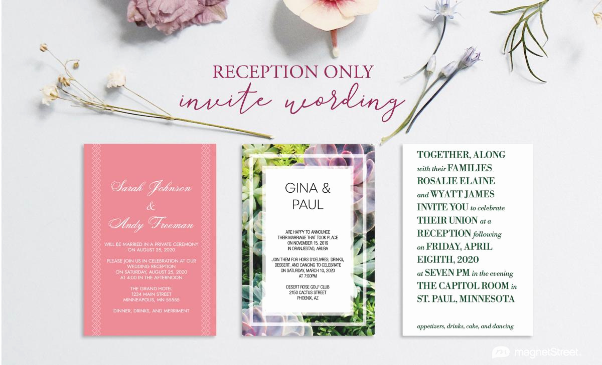 Reception Only Invitation Wording Luxury Reception Ly Invitation Wording