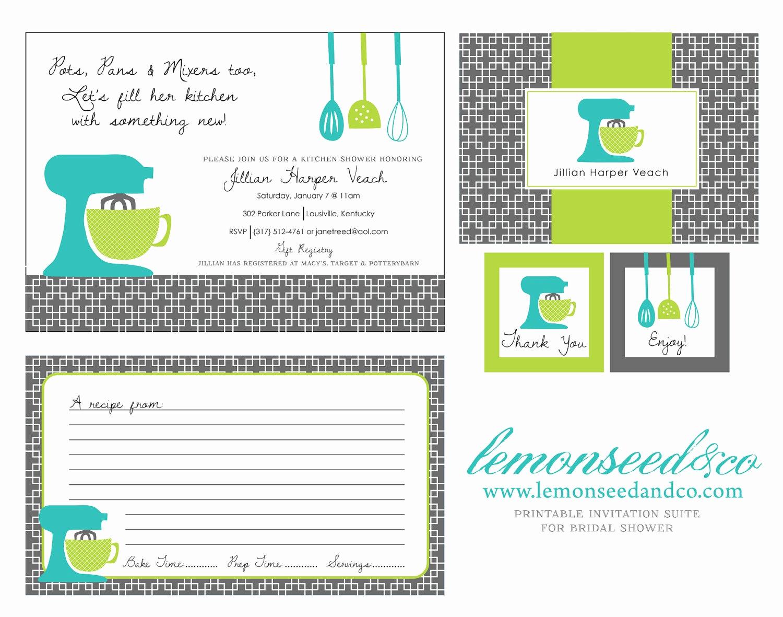 printable kitchen shower invitations