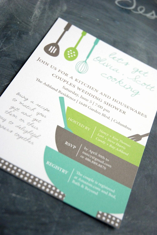 Recipe Bridal Shower Invitation Wording Luxury Items Similar to Bridal Shower Invitation and Matching