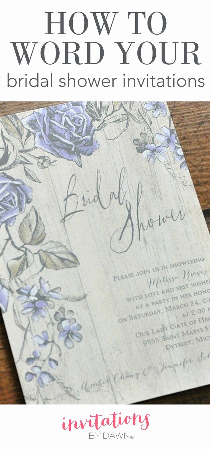 Recipe Shower Invitation Wording Beautiful Best 25 Bridal Shower Invitation Wording Ideas On